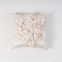 Ivory Ruffle Pillow