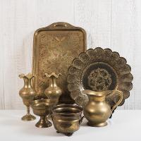 Bohemian Brass Trays