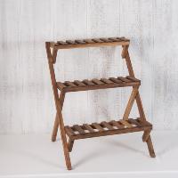 Wood slat stand