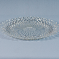 Large vintage glass tray
