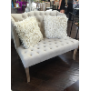Linen Love Seat Tufted