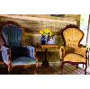 Victorian Chair (Blue Velvet)