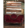 Victorian Couch Burgandy with Insert