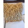 Gold Fringe Pillow