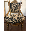 Victorian Black and Tan Print Chairs