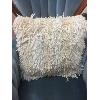 White Fringe Pillow