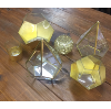 Geometrical Gold Candles