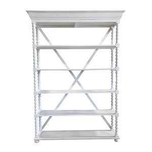 Faith - Bright White 5 Shelf Rack