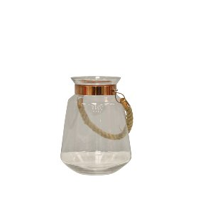 Glass Container with Copper Rim