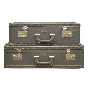 Vintage Blue Luggage-Set of 2