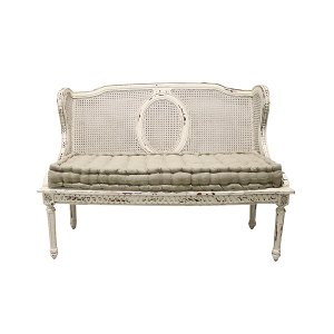 Avelaine French Cane Wingback Bench
