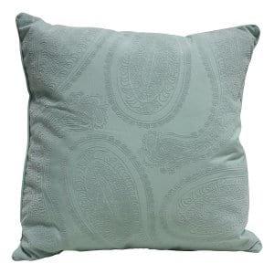 Mint Paisley Pillow