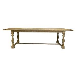 Farm Table - Natural Finish Trestle Table