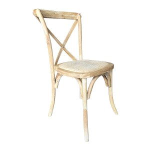 Honey Washed Crossback Chair - Cane Seat