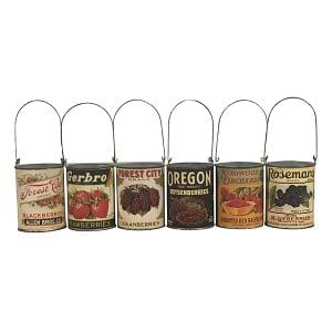Vintage Berry Tin Can Collection