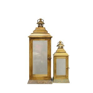 Copper and Glass Lanterns  - Pair