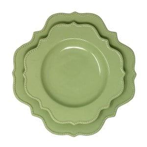 Green Scalloped Set