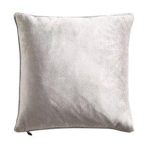 Silver Velour Pillow