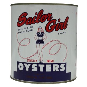 Sailor Girl Oyster Cans - 1 Gallon