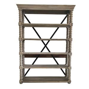 Franklin - French Grey 5 Shelf Rack