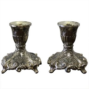 Sancia Silver Candlesticks (Pair)