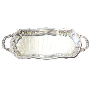Sandra Petite Footed Silver Tray