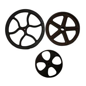 Leather Wheels & Pulley Lot