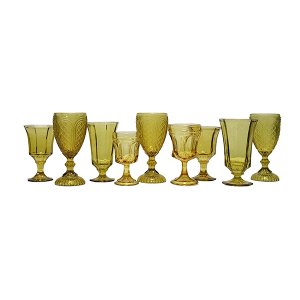 Golden Amber Glassware Mix