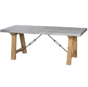Zeus - Zinc Table Dining Table