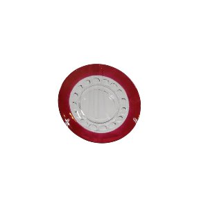 Ruby Kings Crown Thumbprint-Dinner Plate