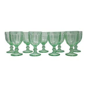 Harlequin Green Glassware