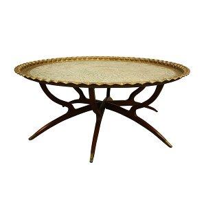Ophelia Brass Tray Coffee Table