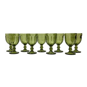 Green Clear Goblet - Bulk