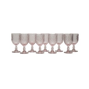 Pink Diamond Pattern Goblet - Bulk