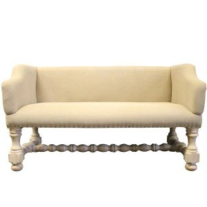Petite Linen Bench