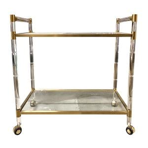 Savage Acrylic Serving Cart