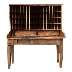 Post Office Sorter Desk