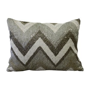Multicolor Beaded Pillow