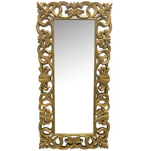 Gold Leaning Mirror
