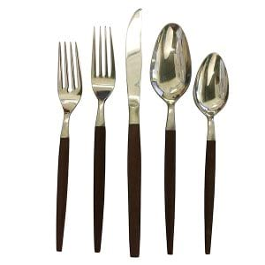 Rosewood Handle Flatware Setting