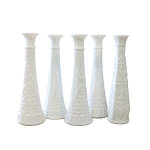 Skinny Milk Glass Vase