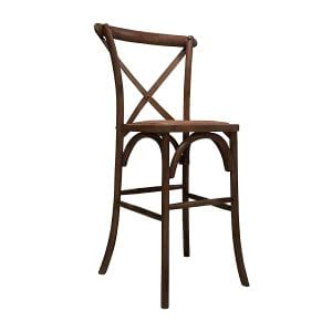 Chestnut Crossback Bar Stool
