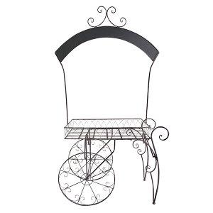 Chelsey - Wrought Iron Chalkboard Garden Cart