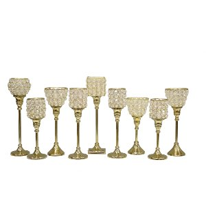 Crystal Candleholders - Sets of 3