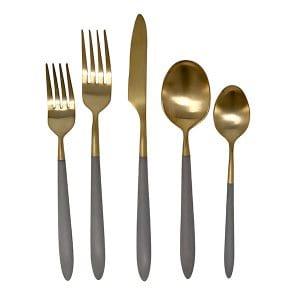 Dutton Gray & Gold Flatware