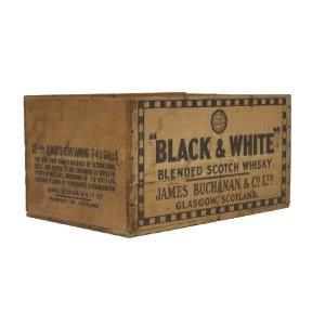 Black & White Whisky Crate