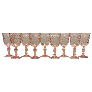 Pink Swirl Goblet Collection