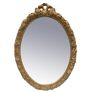 Voila Gold Oval Mirror