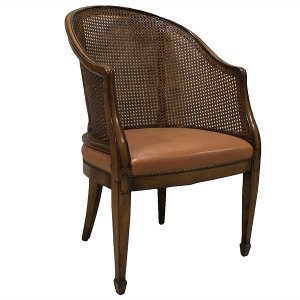 Davenport Tub Cane Back Chair