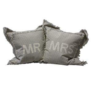 Mr & Mrs Pillows - Pair